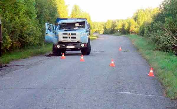 В Курганской области перевернулся грузовик. Водитель в больнице.