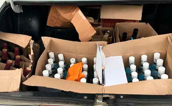 В Курганской области задержана легковушка с 434 литрами незаконного алкоголя