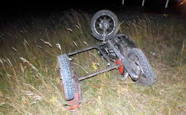 В Зауралье после столкновения с иномаркой погиб водитель мотоцикла