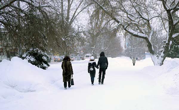 В Кургане школьникам отменили занятия второй смены из-за морозов