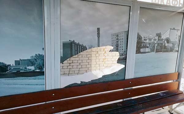 В Кургане вандалы разбили еще одну остановку