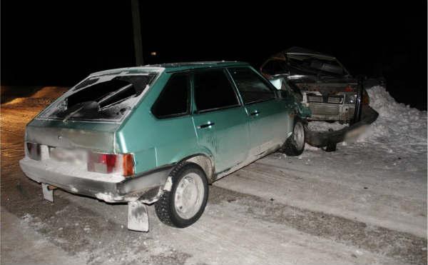 В Курганской области водитель без прав устроил ДТП на встречке