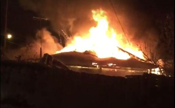 В Кургане произошел пожар в общественной бане