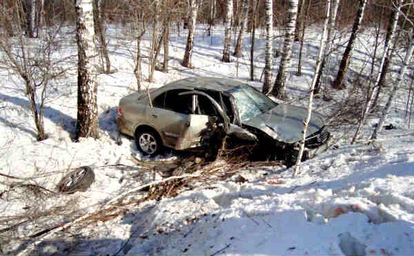 В Курганской области столкнулись две иномарки. Пострадала пассажирка