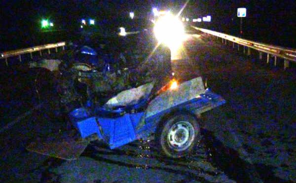 На трассе в Курганской области столкнулись мотоблок и «BMW». Два человека погибли