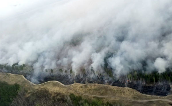 Эвакуированный в Курганской области поселок Иковка спасли от пожара