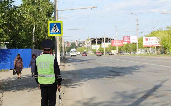 В Кургане ГИБДД штрафует водителей и пешеходов