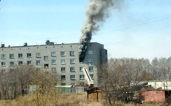 В Кургане горела комната в общежитии на улице Алексеева