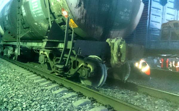 В Курганской области сошел с рельс вагон грузового поезда