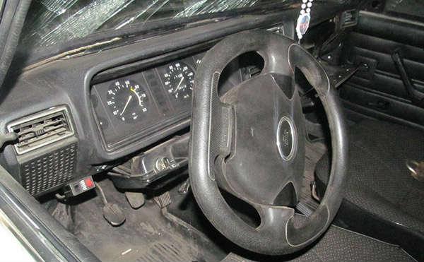 В Кургане на ул. Гагарина столкнулись две иномарки