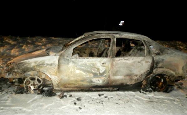 В Курганской области сельчанин убил мужчину и сжег тело вместе с автомобилем
