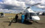 В Курган вертолетом из района доставили 80-летнюю женщину с инфарктом