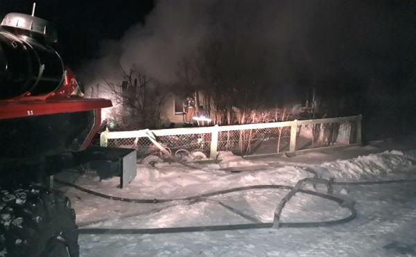 В Курганской области во время пожара погибла семья из трех человек