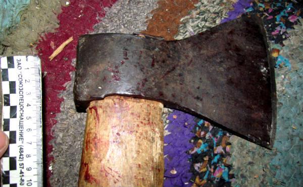 В Курганской области жителя зарубили топором
