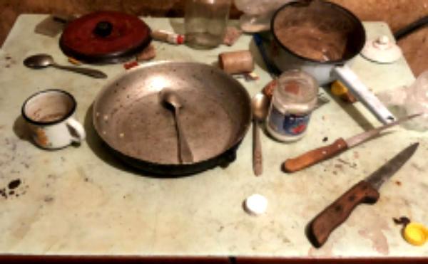 В Курганской области мужчина убил сожителя матери, нанеся 26 ударов ножом