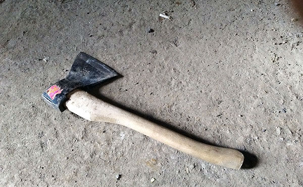 В Зауралье разбойник напал на пенсионера, размахивая поленом и топором