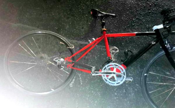 В Кургане ночью иномарка сбила велосипедиста